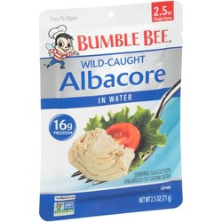 Bumble Bee Albacore Tuna in Water Pouch 2.5 oz