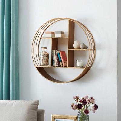 Brooklyn Circular Shelf Gold - FirsTime