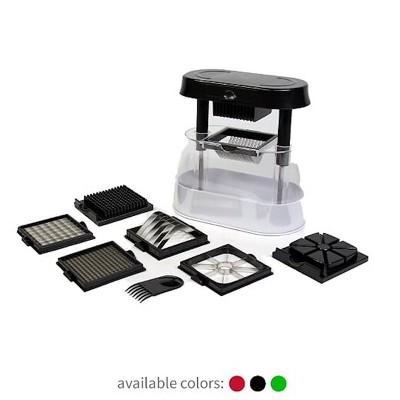 Ronco Veg-O-Matic Deluxe, Fruit and Vegetable Chopper, Dishwasher Safe(BLACK)