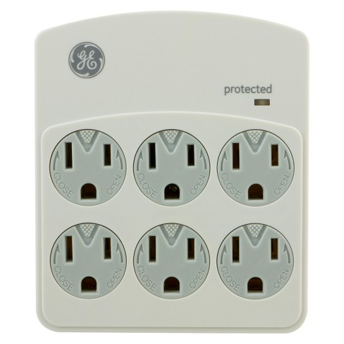 GE Surge Protector 6 Outlet, 450 Joules - White/Gray (94000) - image 1 of 1
