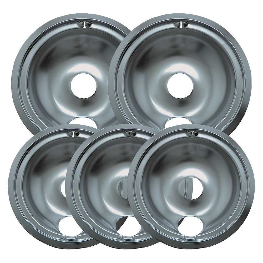 Image of Range Kleen 5pc Drip Pans - Chrome