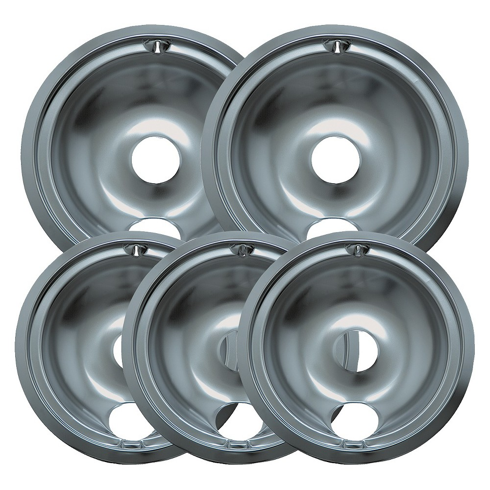 Range Kleen 5pc Drip Pans – Chrome 13741385