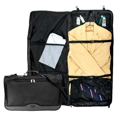 G. Pacific Ballistic Nylon Tri-Fold Carry On Garment Bag - Black