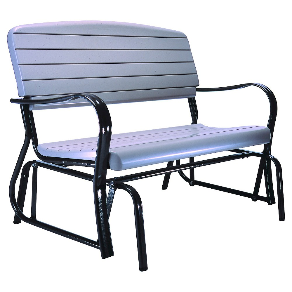 Image of Beige Glider Bench - Lifetime