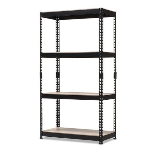 Cody Metal 4 - Shelf Multipurpose Shelving Rack - Black - Baxton Studio - image 1 of 1