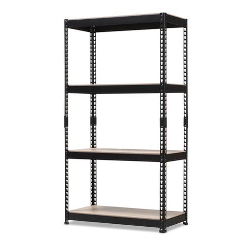 Cody Metal 4 - Shelf Multipurpose Shelving Rack - Black - Baxton Studio - image 1 of 4