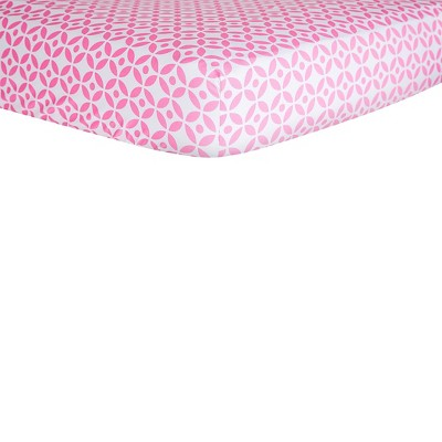 Trend Lab Lily Lattice Cotton Crib Sheet