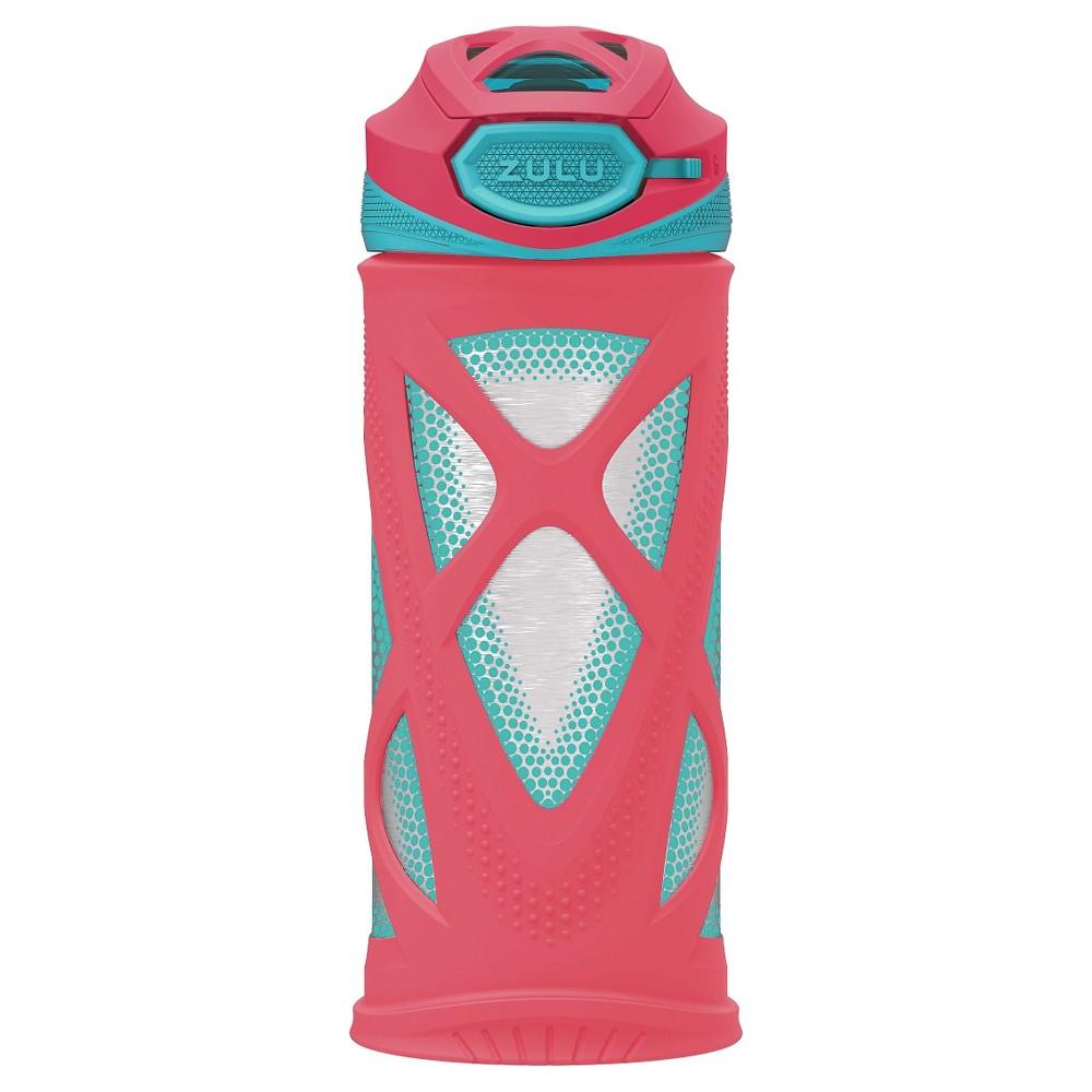 Zulu Kids Water Bottle - Pink/Blue - 12 oz