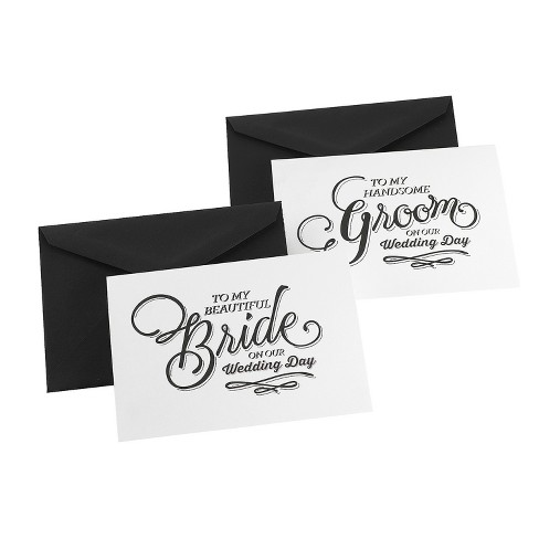 2ct Beautiful Couple Black Wedding Day Card Set - image 1 of 1