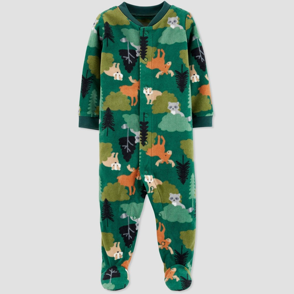 Image of Baby Boys' Animal Fleece Sleep 'N Play - Just One You made by carter's Green 9M, Boy's