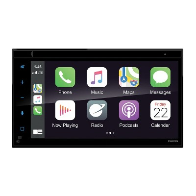 Planet Audio P9900CPA Double DIN, 6.75 Inch LCD Touchscreen Car Multimedia Player with Bluetooth, MP3, USB, Aux, AM/FM Radio, and Multi Color Changer