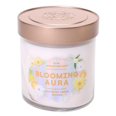 15.2oz Lidded Glass Jar 2-Wick Candle Blooming Aura - Signature Soy