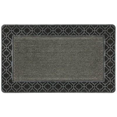1'6 X2'6  Geometric Doormats Black Silver - Mohawk