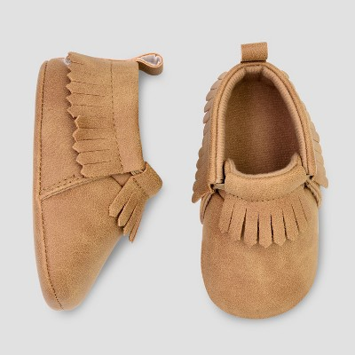 Baby Boys' Moccasin Crib Shoes - Just One You® made by carter's Brown 3-6M