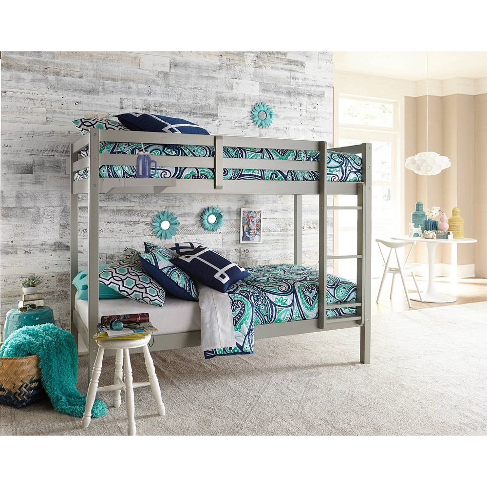Kids Twin Over Twin Caspian Bunk Bed with Hanging Nightstand Gray - Hillsdale Furniture Kids Twin Over Twin Caspian Bunk Bed with Hanging Nightstand Gray - Hillsdale Furniture Gender: unisex.