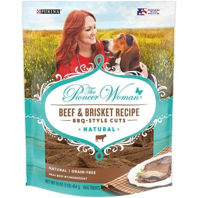 Purina The Pioneer Woman Beef & Brisket Cuts Chewy Dog Treats - 16oz