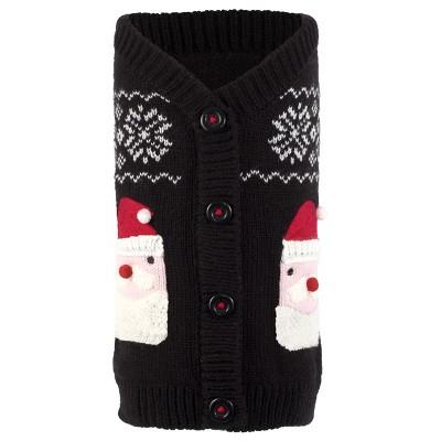 The Worthy Dog Santa Pullover Cardigan Sweater
