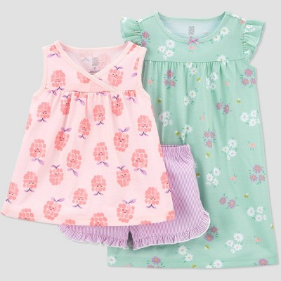 Toddler Girls' 3pc Raspberry Pajama Set - Just One You® made by carter's