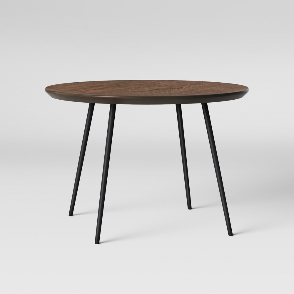 Copley Dining Table Wood Top With Metal Legs Walnut - Project 62