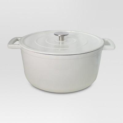 6 Quart Cast Iron Dutch Oven - White - Threshold™