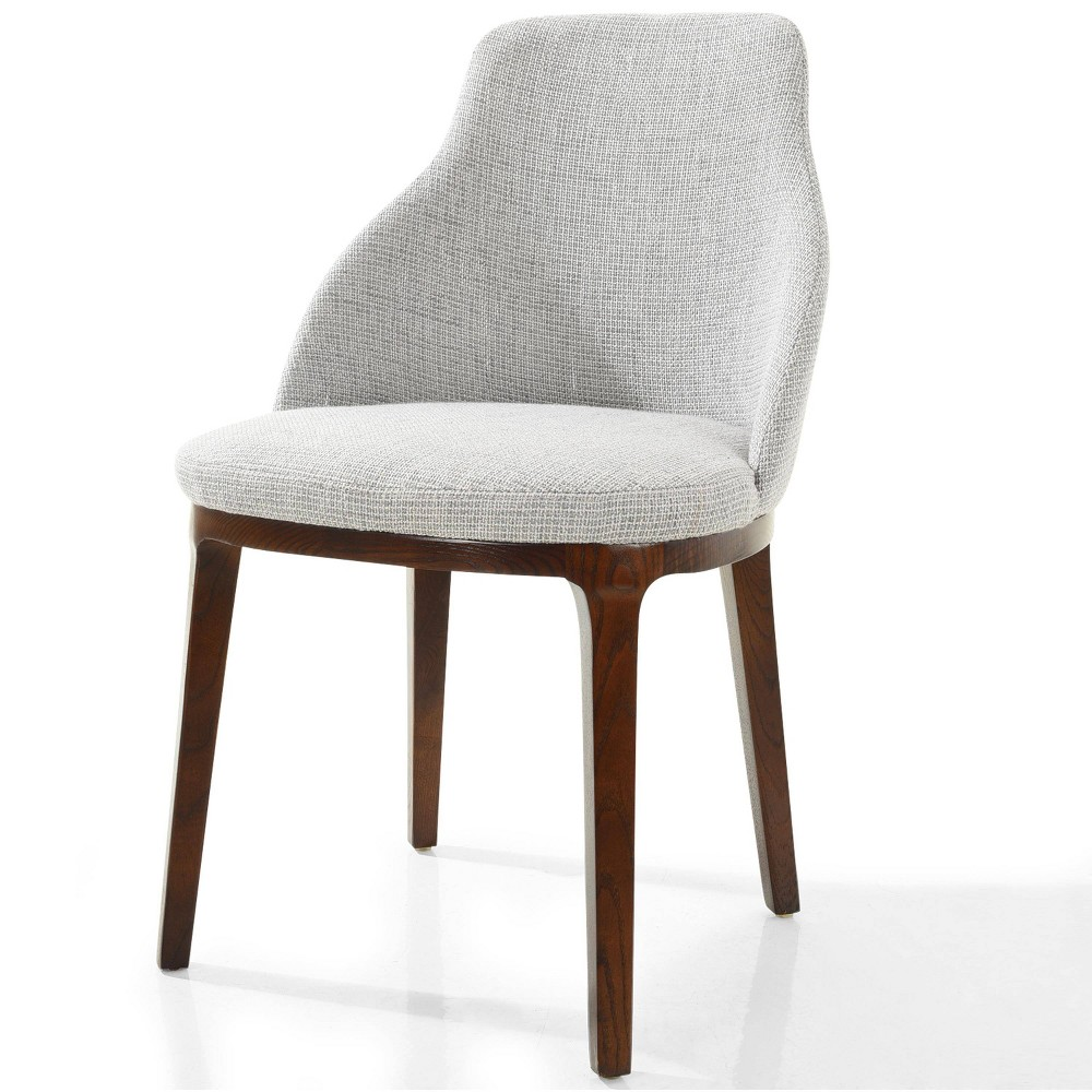 Image of Brett Dining Chair Light Gray - Edgemod