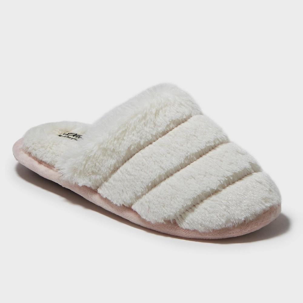 Image of Women's dluxe by dearfoams Kaila Slide Slippers - Ivory XL(11), Size: XL (11-12)