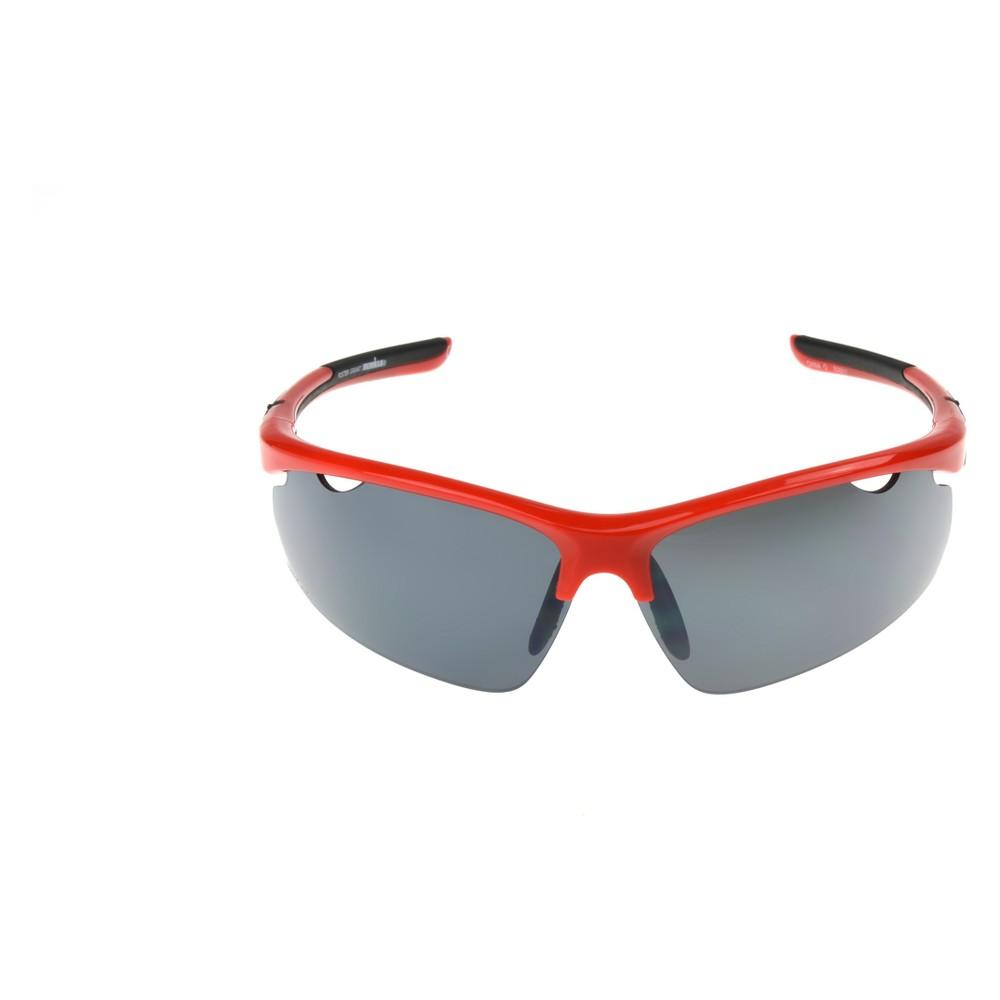 Image of Men's Ironman Polarized Semi-Rimless Sportwrap Sunglasses - Red, Size: Small