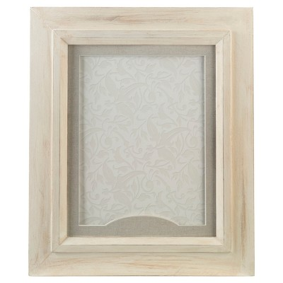 Rustic White Frame for Signing Hearts