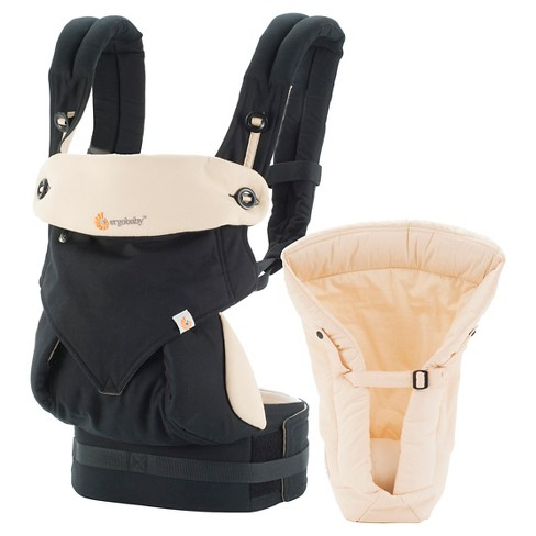 2b0b0526a94 Ergobaby 360 All Carry Positions Ergonomic Baby Carrier With Bundle Of Joy  Infant Insert - Black Tan   Target