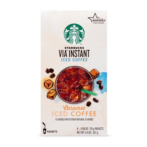 Starbucks VIA Instant Caramel Iced Coffee - 6ct - image 1 of 5
