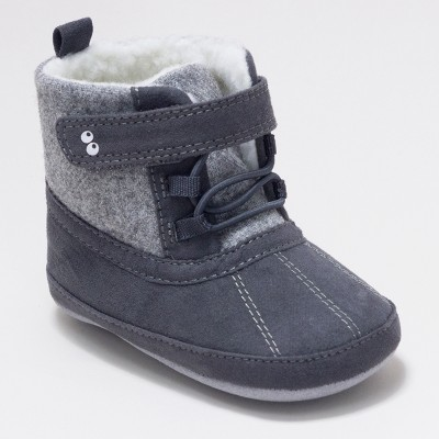 Baby Boys' Surprize by Stride Rite Dean Mini Boots - Grey 12-18M