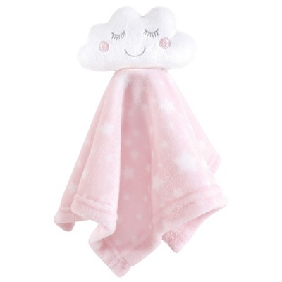Hudson Baby Infant Girl Animal Face Security Blanket, Pink Cloud, One Size