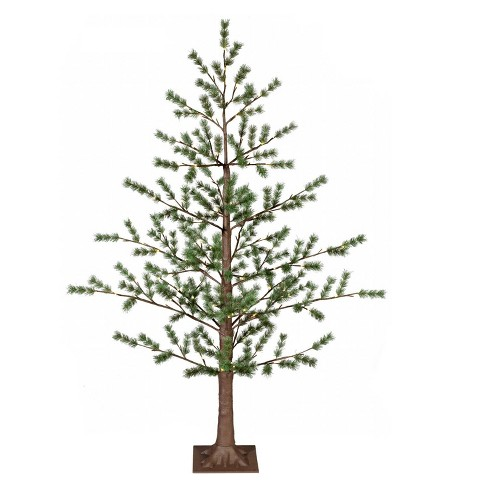 newest 6a792 bade6 Philips 5ft Pre-lit Slim Artificial Evergreen Twig Christmas Tree Warm  White LED Lights