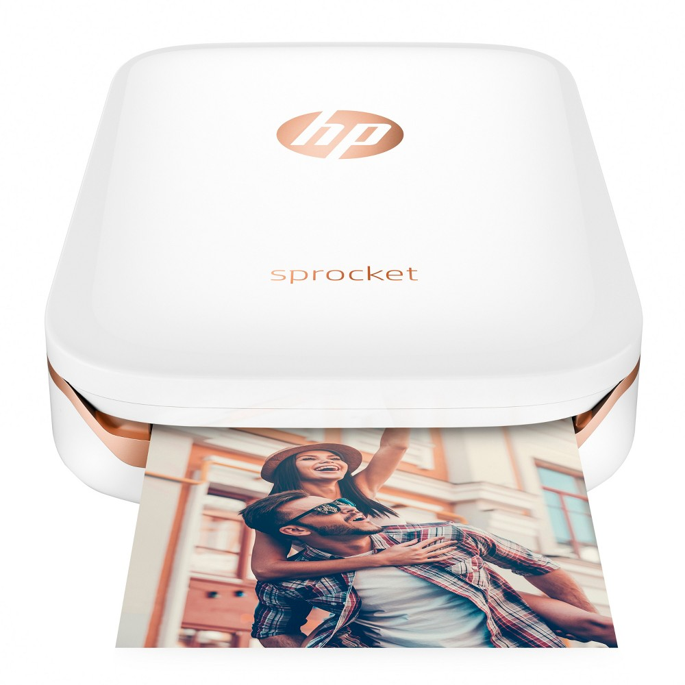 HP Sprocket Photo Printer - White X7N07A Click amazing pictures and take instant prints with this innovative Sprocket Photo Printer from HP. This cool pocket printer lets you print photos from Android smartphones or iPhone via the Sprocket app. What's more? It does not require any ink to print photos. All you need is the 2/3 Zink papers and you can print as many photos as you like. So, go ahead make more memories with your loved ones. Color: White.