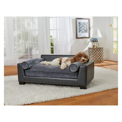 enchanted home pet skylar dog sofa dark grey target rh target com dog sofa beds extra large dog sofa beds extra large