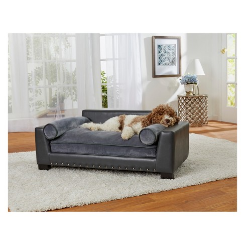 Enchanted Home Pet Skylar Dog Sofa Dark Grey Target