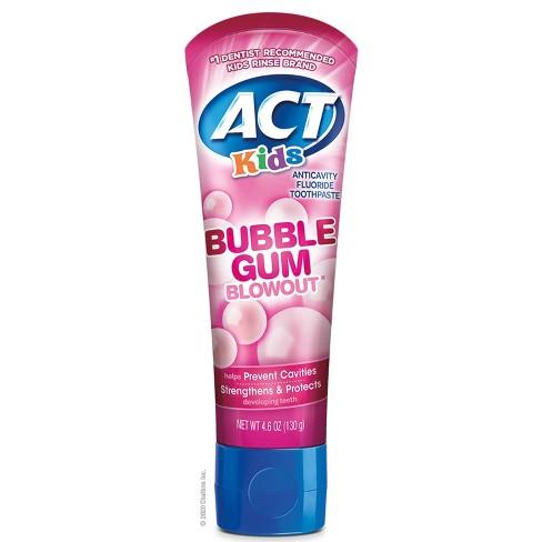 ACT Kids Toothpaste Bubblegum - 4.6oz - image 1 of 4