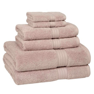 6pc Signature Solid Bath Towel Set Linen - Cassadecor