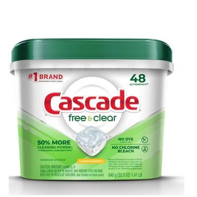 Cascade Free & Clear Action Pacs Lemon Essence