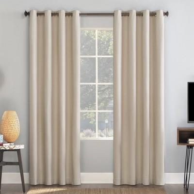 Enzi Herringbone Draft Shield Fleece Insulated 100% Blackout Grommet Curtain Panel - Sun Zero