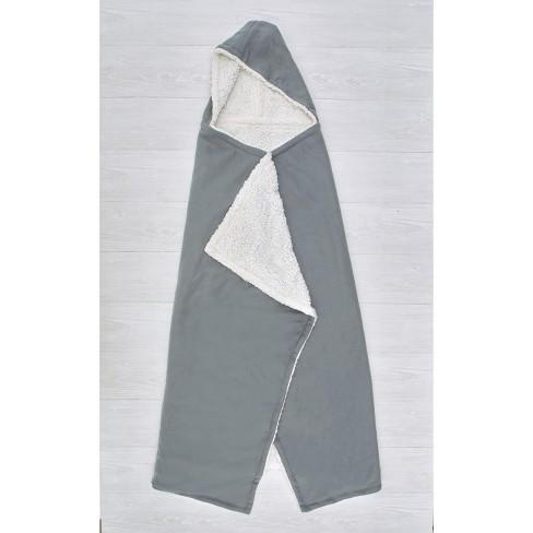 Lakeside Hooded Fleece & Sherpa Lined Wearable Throw Blanket - image 1 of 2