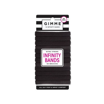 Gimme Clips Infinity Hair Bands - Black - 12ct