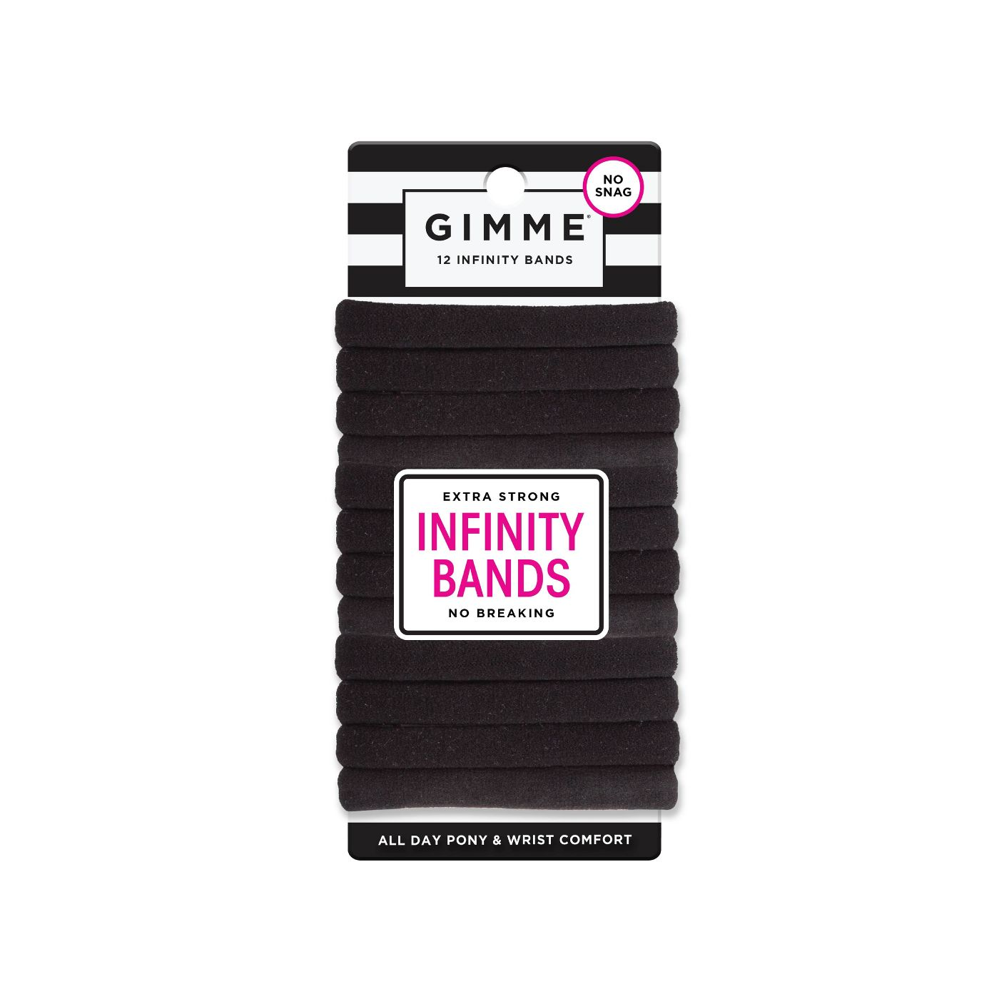 Gimme Clips Infinity Hair Bands - Black - 12ct - image 1 of 5