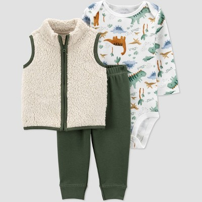 Baby Boys' Dino Vest Top & Bottom Set - Just One You® made by carter's Green Newborn