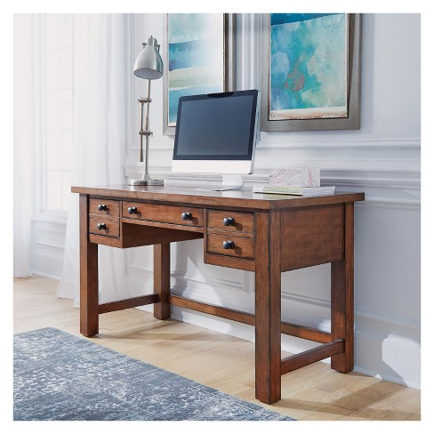 Tahoe Executive Writing Desk Aged Maple Home Styles