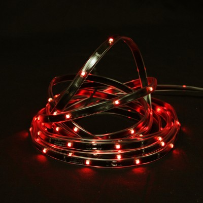 Northlight 18' Red LED Outdoor Christmas Linear Tape Lighting - Black Finish