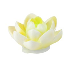 "Pool Central Floating Flower LED Color Changing Patio or Swimming Pool Light 4"" - White/Yellow"