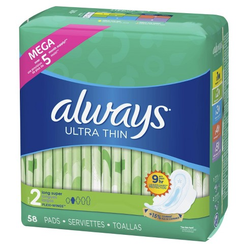 Always Ultra Thin Long Super Pads - Size 2 - image 1 of 5