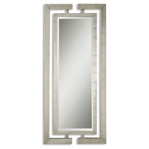 Silver Wall Mirrors Decorative.Rectangle Jamal Decorative Wall Mirror Silver Uttermost