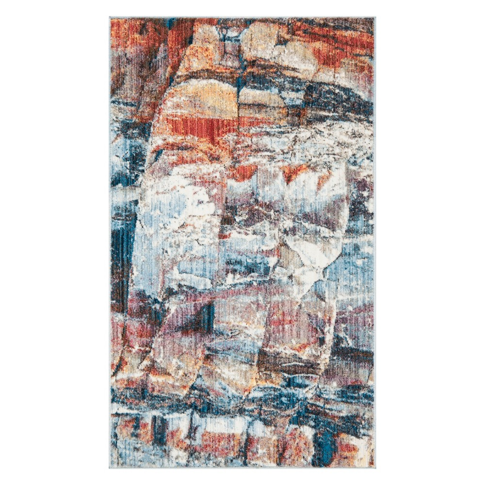 4 X6 Marble Area Rug Red Safavieh